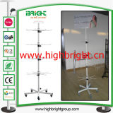 8 Hooks Rotating Spinner Display Stand for Retailing