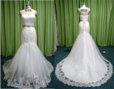 Newest A-Line Lace Bridal Gown Tulle Crystal Sash Wedding Dresses