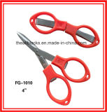 Fishing Tackle/Straight Mouth Fishing Line Folding Scissors/Stainless Steel Scissors Fg-1010