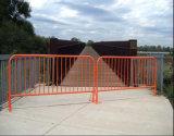 Orange Powder Coating Steel Barricade/1100mm High Road Barrier