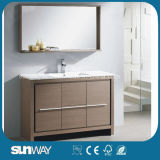 Hot Sale MDF Melamine Surface Bathroom Furniture with Mirror (SW-ML1202)