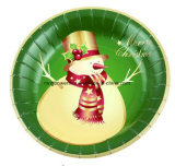 Cheap Price Custom Round Shape Eco-Friendly Paper Plate/Tray