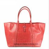 New Fashion Crocodile Grain PU Shopping Bag Women Tote Bag