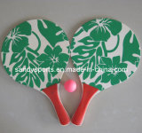 Best Sell High Quality Silk Screen Printing Wood Beach Racket