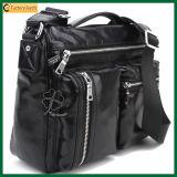 High Quality Large Zipper PU Leather Tote Bag (TP-TB134)