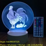 3D Laser Engraving Acrylic Night Lamp with LED Light