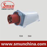 4pin 380V IP67 Wall Mounting Plug, 16A 125A PA66/ Nylon/ ABS Material
