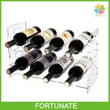 Clear Acrylic Wine Rack Wine Bottle Display Stand