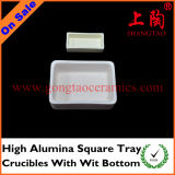 High Alumina Square Tray Crucibles with Wit Bottom