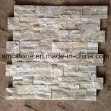 18*35cm Hot Sale China Yellow White Quartz Stone Wall Cladding