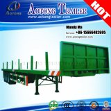 Juyuan Log Wood/Timber Flatbed Semi Trailer with Side Columns