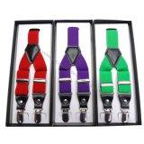 Men′s Fashion Plain Color Suspender Belt 3.5cm*110cm