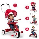 Custom Kids Trikes Adjustable Push Handle UV 4-in-1 Stroll Infant Trike