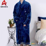 Cheap Soft Solid Flannel Fleece Men Bathrobe Sleepwear