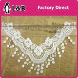 2017 Fashion Milk Silk Polyester Chemical Lace Collar with Tassel for Women