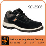 China Factroy PU Outer Sole Genuine Leather Safety Boot Working Shoes Sc-2506