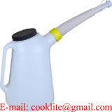 6 Litres Oil Dispensing Can / Plastic Measuring Jug with Flexible Hose