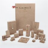 17 Sets Yellow Microfiber Jewelry Display Stands for Showcase