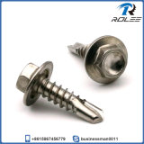 304/316/410 Stainless Steel Hex Flange Head Self-Drilling Metal Screw