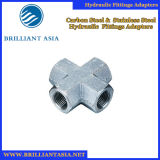 CNC Fittings Carbon Steel Hydraulic Metric Adapters