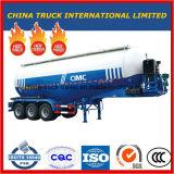 Tri-Axle 30-70m3 Bulk Cement Truck Powder Tank Semi Trailer