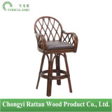 Greyson Living Antigua Natural Rattan Swivel Bar Chair