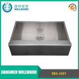 Handmade Res-3301 Apron Stainless Steel Kitchen Sink