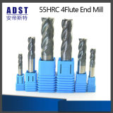 Accessories 55HRC 4flute Tungsten Steel End Mill Cutting Tool