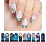 Fashionable Colorful Water Transfer Nail Art Stickers Nail Sticker