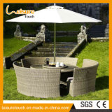 Brown Big Dining-Table Garden Outdoor Furniture Wicker/Rattan Chair and Table Set