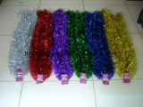 Christmas Tinsel Garland, Material: Plastic, Christmas Decoration
