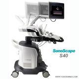 Hospital Medical Trolley 4D Color Doppler Sonoscape S40