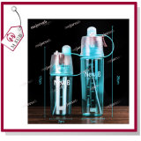 650ml Unbreakable Water Bottle Portable Sports Bottle with Plastic Cup