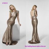Sequined Backless Fishtail Evening Dress
