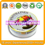Round Tin Box for Metal Gift Packaging Box, Food Tin Container, Tin Can