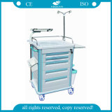 AG-Et005b1 Multifunctional Mobile Emergency ABS Hospital Trolley with Wheels