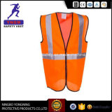 Black Safety Vest with White Reflective Tape