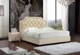 Modern Style Half Italian Leather Soft Bed (SBT-33)