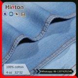 Stock Lots 100% Cotton Denim Fabric 4oz Jeans Fabric
