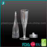Clear/Transparent Color Plastic PS Disposable Party Champagne Glass