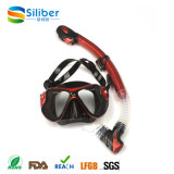 2017 PVC Bag for 100% Silicone Strap Diving Mask and Snorkel Set
