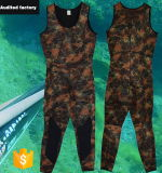 Camouflage Sleeveless Neoprene Nylon Diving Men Surfing Suit with Pad
