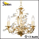 Indoor Decoration Gold Foil Crystal Chandelier Light