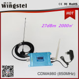 Coverage Area 1000 Square Meters CDMA 2G 850MHz Mini Signal Booster with Antennas for Home