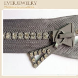High Quality Fashion Rhinestone Zipper with Custom Diamond