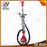 Iraqi Style Water Pipes Silicone Hookah Smoke Silicone Bowl Single Pipe Water Shisha Tobacco Red