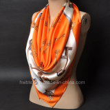 New Arrival Pure Silk Satin Shawl / Square Scarf (HWBS33)
