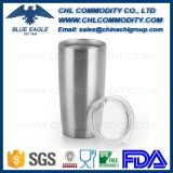 20oz Powder Coated Color Stainless Steel Tumbler with Tritan Lid