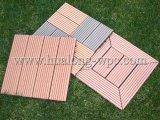 HDPE Flooring+Plastic Base WPC Interlocking Decking Tiles (HL-300*300)