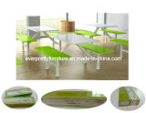 Dt-011 Heavy-Duty Restaurant Polyester Resin Dining Tables and Chairs